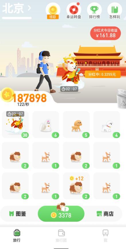 旅行世界限时分红犬