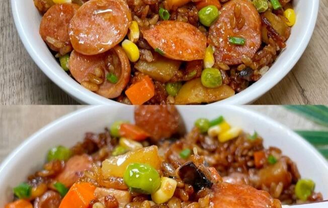 懒人版香肠土豆焖饭,做法超级简单